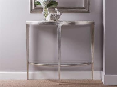 Artistica Home Gravitas White Capiz Shell with Champagne 42''L x 18''W Demilune Console Table ATS2050966C