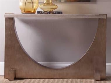 Artistica Home Impresario Silver Travertine Stone with Silver Leaf 54''L x 14''W Rectangular Console Table ATS2060966