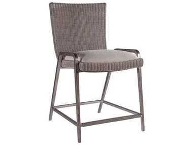 Artistica Iteration Woven / Antiqued Silver Leaf Side Counter Height Stool ATS208589501