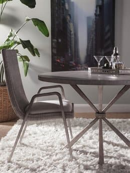 Artistica Iteration Woven / Antiqued Silver Leaf Arm Dining Chair ATS208588101