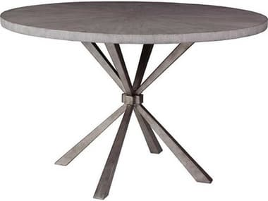 Artistica Iteration Light Gray / Silver Leaf 48'' Wide Round Dining Table ATS2085870C