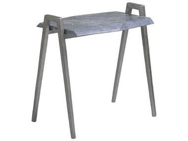 Artistica Home Leo Gray Marble with Dark Iron 26''L x 18''W Rectangular Table Shape ATS2067956