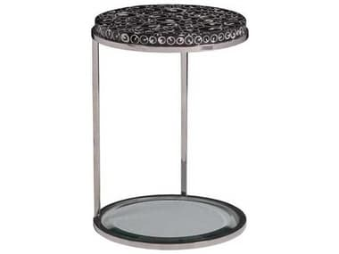 Artistica Mariana Black / Polished 16'' Wide Round End Table ATS2047950