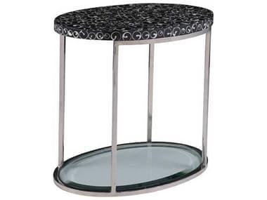 Artistica Mariana Black / Polished 24'' Wide Oval End Table ATS2047951