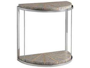 Artistica Montez White 21'' Wide Demilune End Table ATS2125950