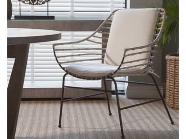 Artistica Home Raconteur White Washed with Dark Gray Dining Arm Chair ATS208988101