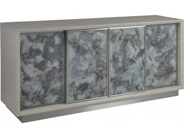 Artistica Signature Designs Sandblasted / Eglomise / Brushed Stainless Steel 68'' Wide Media Console ATS012208907