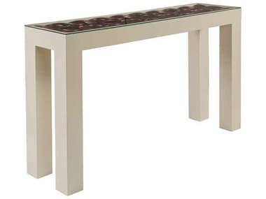 Artistica Signature Designs Warm Silver Leaf / Ivory Matte 58'' Wide Rectangular Console Table ATS012055966
