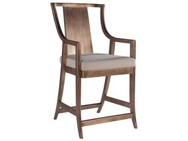 Artistica Sirocco Warm Silver Leaf / Natural Vanilla Arm Counter Height Stool ATS209589501