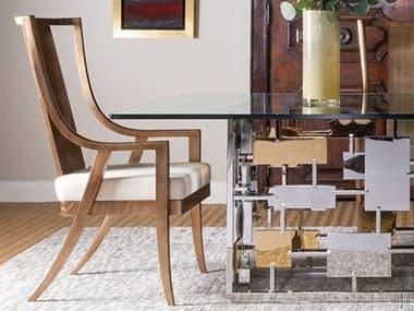 Artistica Sirocco Warm Silver Leaf / Natural Vanilla Arm Dining Chair ATS209588101