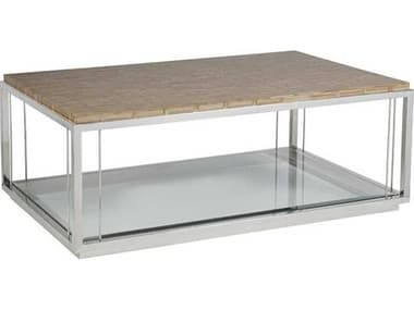 Artistica Thatch Brown / Silver 48'' Wide Rectangular Coffee Table ATS2126945C
