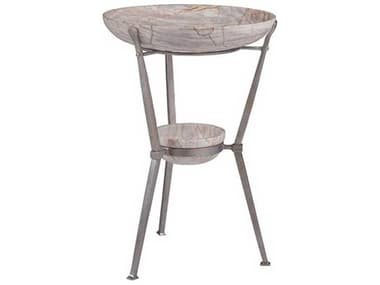 Artistica Zorba Warm Silver Antiqued 16'' Wide Round End Table ATS2054951