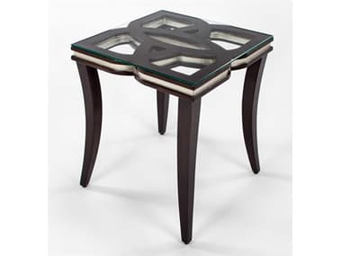 Artmax Chocolate / Silver 24'' Wide Square End Table AMX1994ET