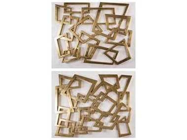 Artmax 56 x 46 Gold Leaf Metal Wall Art (2 Piece Set) AMX4422PLA