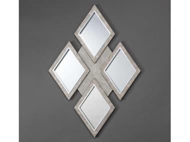 Artmax Taupe Sand / Silver 36''W x 52''H Wall Mirror AMX4F07FM
