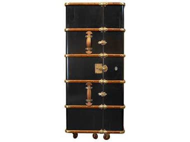 Authentic Models Furniture Black / Honey Distressed French Bar Cabinet A2MF078B