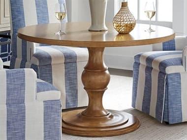 Barclay Butera Newport Corona Del Mar Sandstone 48'' Wide Round Pedestal Dining Table BCB920925C