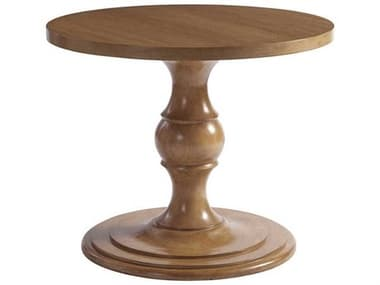 Barclay Butera Newport Corona Del Mar Sandstone 36'' Wide Round Pedestal Table BCB920924C