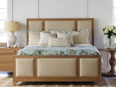 Barclay Butera Newport Crystal Cove Sandstone King Panel Bed (Custom Upholstery) BCB920134CUPH