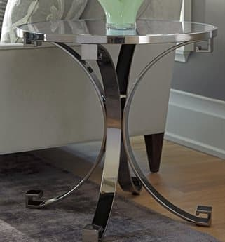 Barclay Butera Brentwood Grace Wilshire 26'' Wide Round Lamp End Table BCB915950