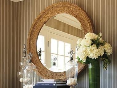 Barclay Butera Newport La Jolla Sandstone 42'' Wide Round Wall Mirror BCB920201