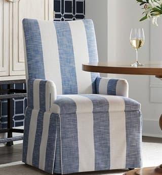 Barclay Butera Mackenzie Skirted Dining Arm Chair (Custom Upholstery) BCB538513
