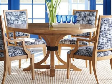 Barclay Butera Newport Magnolia Sandstone 60'' Wide Round Extendable Pedestal Dining Table BCB920875C