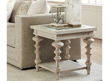 Barclay Butera Malibu 24'' Wide Square Castlerock End Table BCB010926955