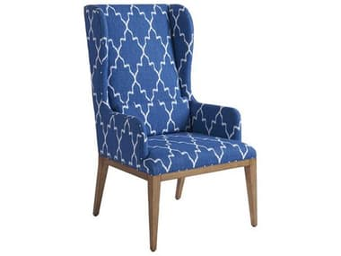Barclay Butera Seacliff Sandstone Arm Dining Host Wing Chair (Married Cover) BCB01092088340