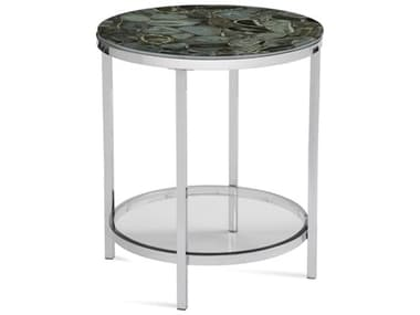 Bassett Mirror Andalusia Gray Stone Round End Table BA7221LR220