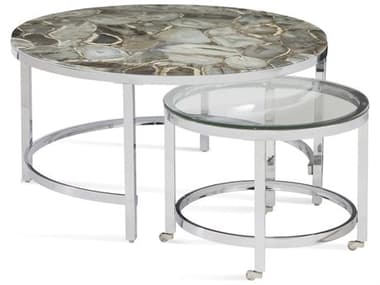 Bassett Mirror Andalusia Gray Stone 34'' Wide Round Coffee Table BA7221LR120