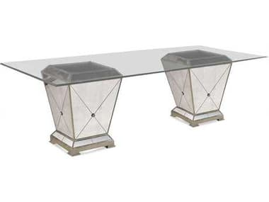 Bassett Mirror Hollywood Glam 96 x 29 Borghese Dining Pedestal Table BA8311601909EC