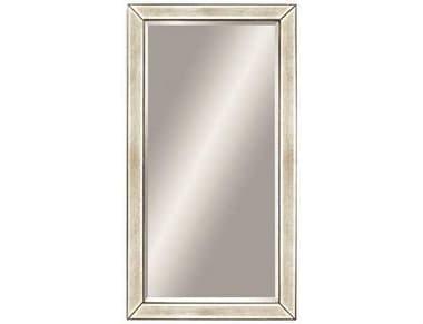 Bassett Mirror Hollywood Glam 43 x 79 Antique Mirror Silver Beaded Leaner Mirror BAM2546BEC