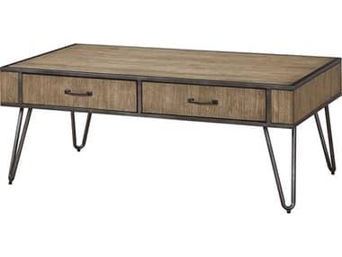 Bassett Mirror Jackson Gunmetal / Pecan 48'' Wide Rectangular Coffee Table BA5810LR100