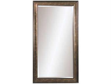Bassett Mirror Old World 45 x 81 Gold Leaf with Brown Glaze Beckett Leaner Mirror BA63088846EC