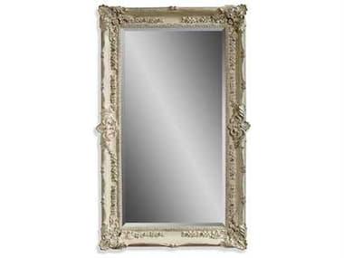 Bassett Mirror Old World 43 x 69 Antique White Garland Wall Mirror BAM2935BEC