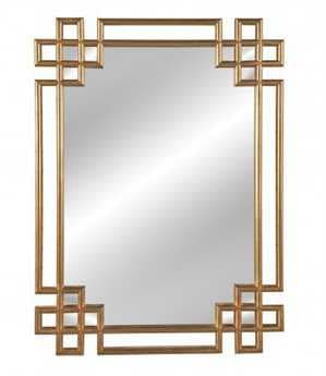 Bassett Mirror Old World 34''W x 52''H Antique Gold Frederick Wall Mirror BAM3620EC