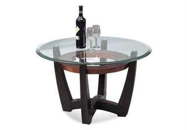Bassett Mirror Thoroughly Modern 34 Round Brown Elation Cocktail Table BAT1078120033EC