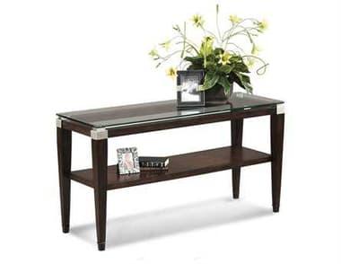 Bassett Mirror Thoroughly Modern 20 x 54 Rectangular Cappuccino Dunhill Console Table BAT1171400EC