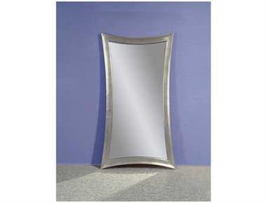 Bassett Mirror Thoroughly Modern 45 x 81 Silver Leaf Hour-Glass Shaped Leaner Floor Mirror BAM1718EC