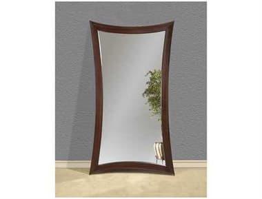 Bassett Mirror Thoroughly Modern 45 x 82 Merlot Finish Hour Glass Leaner Mirror BAM2464EC