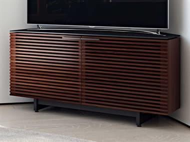 BDI Corridor 51'' x 20'' Chocolate Stained Walnut Corner Cabinet TV Stand BDI8175CWL