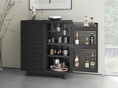 BDI Corridor 36''W x 18.5''D Charcoal Stained Ash Compact Bar Cabinet BDI5620CRL