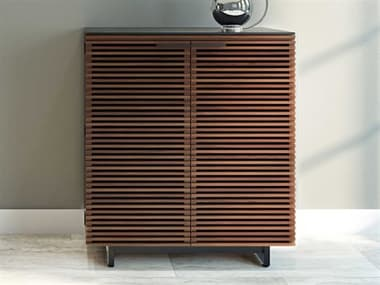 BDI Corridor 36''W x 18.5''D Chocolate Stained Walnut Compact Bar Cabinet BDI5620CWL