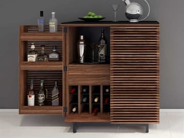 BDI Corridor Natural Walnut Compact Bar Cabinet BDI5620WL