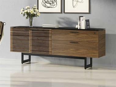 BDI Corridor Natural Walnut Credenza Desk BDI6529WL