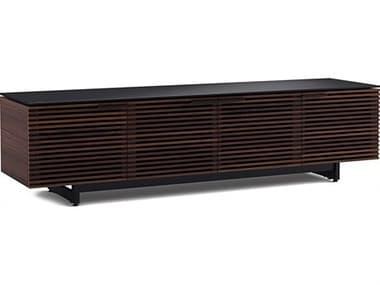 BDI Corridor 79'' x 21'' Chocolate Stained Walnut Quad Width Low TV Stand BDI8173CWL