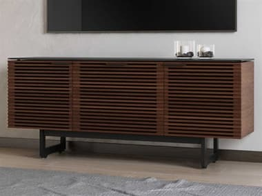 BDI Corridor 65'' x 21'' Chocolate Stained Walnut Triple Width TV Stand with Drawer BDI8177CWL