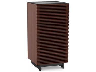 BDI Corridor Chocolate Stained Walnut Enclosed Audio Tower BDI8172CWL
