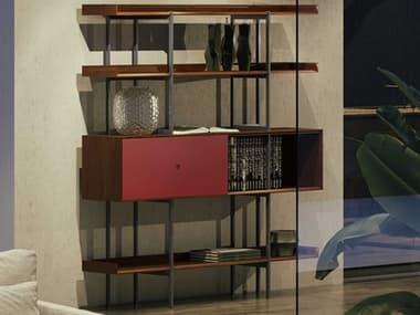 BDI Margo Toasted Walnut / Cayenne Bookcase BDI5201TWLCN